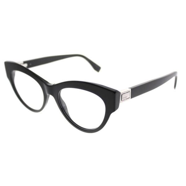 26b390f56ff9 Shop Fendi Cat-Eye FF 0273 807 Women Black Frame Eyeglasses - Free ...