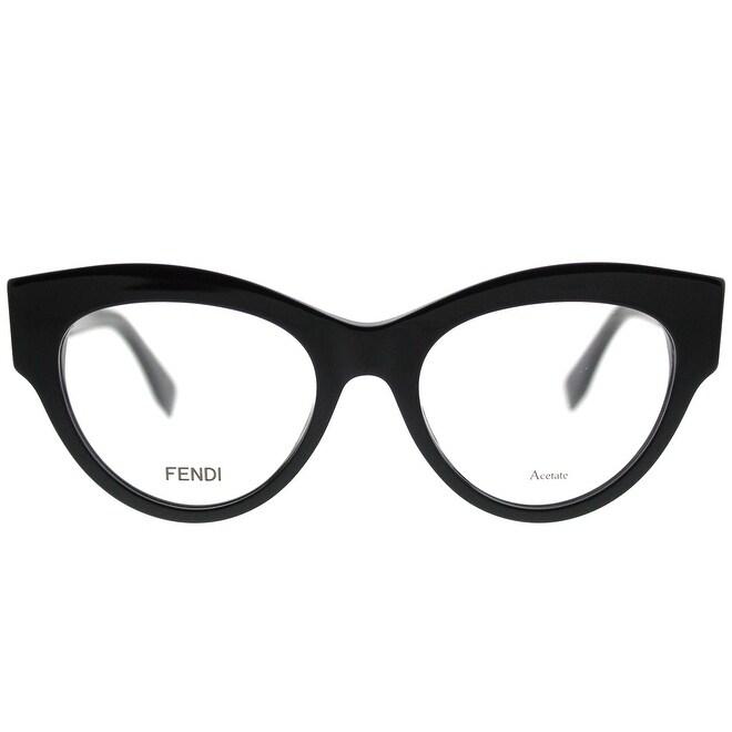 2b585ca18840 Shop Fendi Cat-Eye FF 0273 807 Women Black Frame Eyeglasses - Free Shipping  Today - Overstock - 19992575