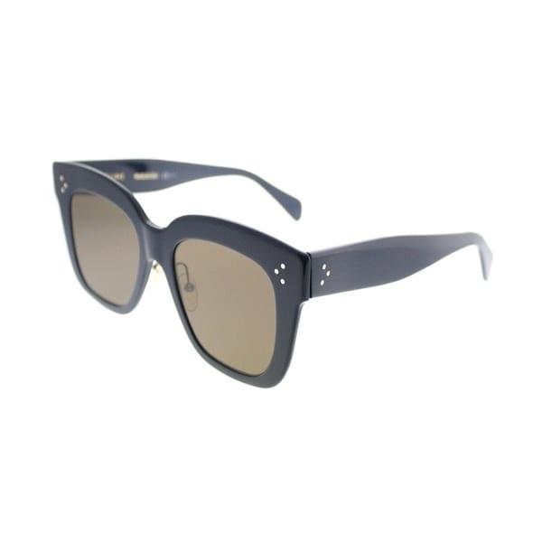 f328a84205a Celine Square CL 41444 Kim 07G Women Blue Frame Brown Lens Sunglasses