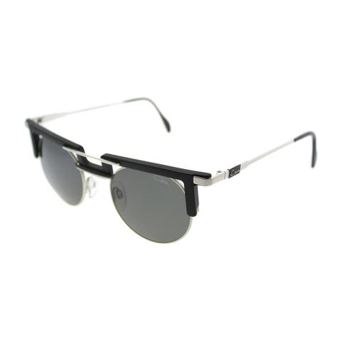 Cazal Round Cazal 745 Legends 3 Unisex Black Frame Grey Lens Sunglasses