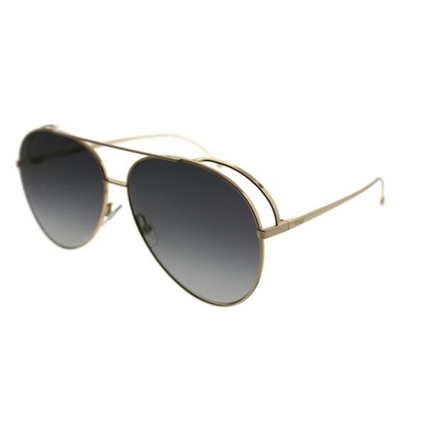 714afae09d Fendi Aviator FF 0286 J5G FQ Unisex Gold Frame Blue Lens Sunglasses