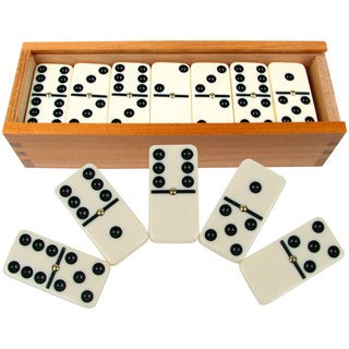 Hey! Play! Premium Set of 28 Double Six Dominoes