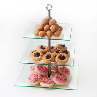 Link to Chef Buddy Three Tier Square Glass Buffet and Dessert Stand Similar Items in Bakeware