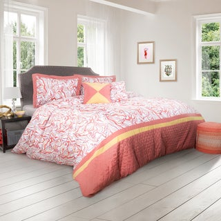 Pink and White 5 Piece Comforter Set