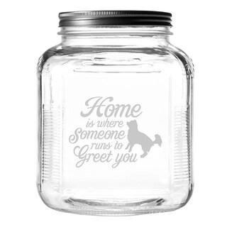 Someone Runs to Greet You Gallon Treat Jar