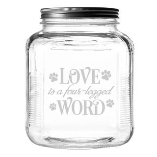 Four-Legged Word Gallon Treat Jar