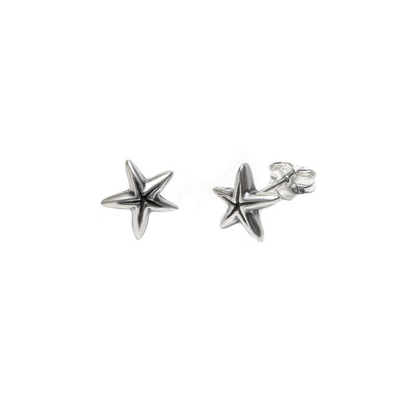 Pori Jewelers Sterling Silver Starfish Oxidized Stud Earrings