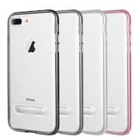 Iphone 8 / 7 Plus Shock Proof Hybrid Transparant Tpu + Pc Frame Case