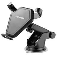 Wireless Qi Fast Charge Dash Board Mount & Air Vent Car Mountholder