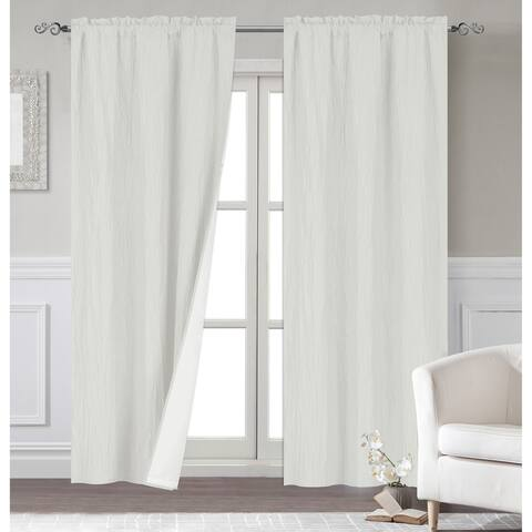 Dainty Home Venetian Blackout Window Curtain Panel Pair with Thermal Lining