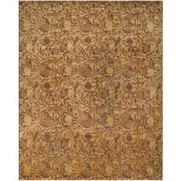 Safavieh Couture Hand-Knotted Contemporary Guilded Vermill Wool & Silk Rug - 6' x 9'