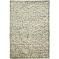 Safavieh Couture Hand-Knotted Contemporary Stone / Blue Wool & Silk Rug - 6' x 9'