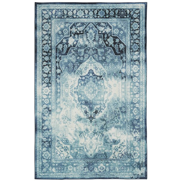 The Curated Nomad Parsa Cloudy Traditional Distressed Floral Area Rug - 8' x 10'