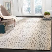 Safavieh Couture Hand-Knotted Tibetan Contemporary Silver Wool & Cotton Rug - 6' x 9'