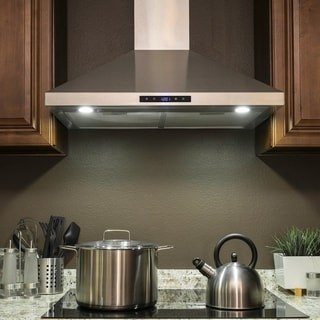 "Golden Vantage RH0320 30"" Stainless Steel Wall Mount Range Hood Touch Mesh Filter Stove Kitchen Vents"