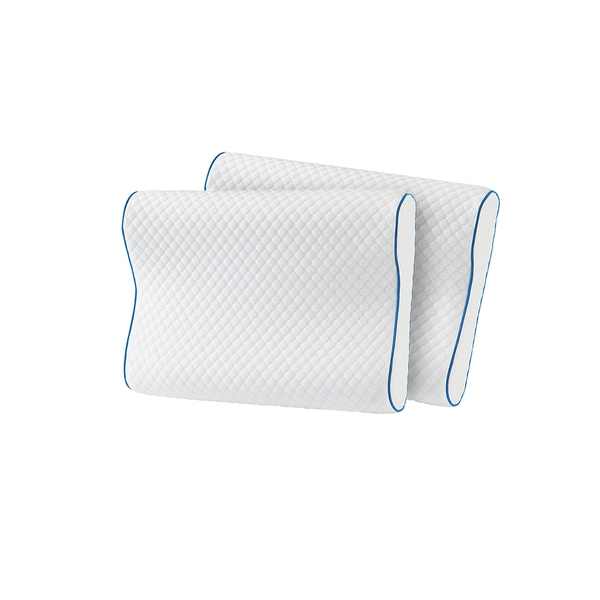 Shop Serta Cool Touch Contour Memory Foam Pillow Set Of 2