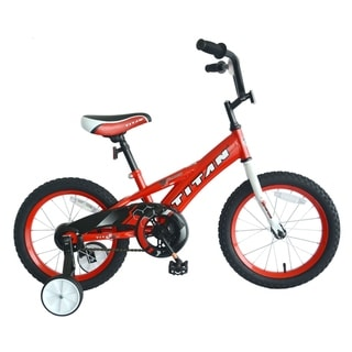Link to TITAN Champion Boy's BMX Bike with 16-Inch Wheels and Training Wheels, Blue Similar Items in Bicycles, Ride-On Toys & Scooters