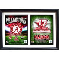 12x18 Double Frame - 2017 National Champion Alabama Crimson Tide