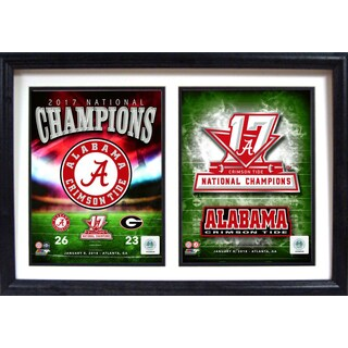 12x18 Double Frame - 2017 National Champion Alabama Crimson Tide