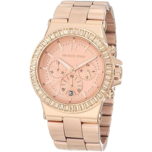 Michael Kors Women's MK5412 Dylan Chronograph Rose Gold Stainless Steel Bracelet Watch