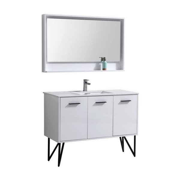 shop kube bath bosco veneer 48 inch modern bathroom vanity with rh overstock com 48 Inch Bathroom Vanity with Top White Modern Bathroom Vanities