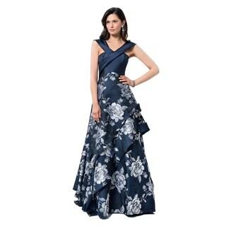 Elegant floral texture jacquard MOB Gown