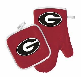 NCAA Georgia Bulldogs Oven Mitt And Pot Holder