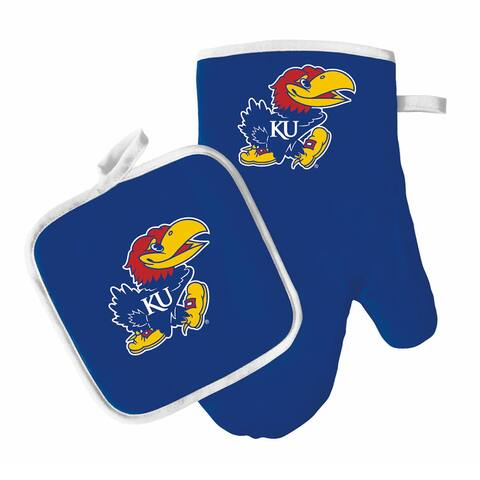 NCAA Kansas Jayhawks Oven Mitt And Pot Holder