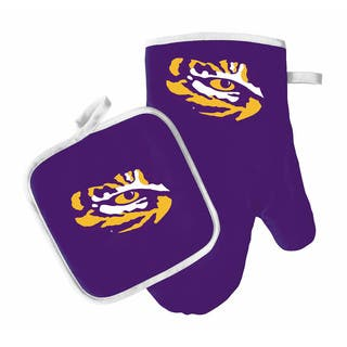 Lsu tigers fan shop for less overstock ncaa lsu tigers oven mitt and pot holder mozeypictures Image collections