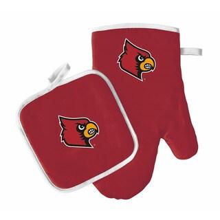 NCAA Louisville Cardinals Oven Mitt And Pot Holder