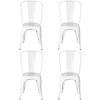 Metal Industrial Style Cafe Side Chair (Set of 4)
