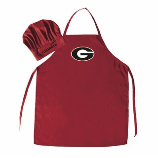 NCAA Georgia Bulldogs Chef Hat And Apron