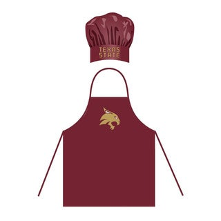 NCAA Texas State Bobcats Chef Hat And Apron