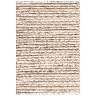 LR Home Topanga Silver Striped Wool and Jute Indoor Area Rug - 5' x 7'10