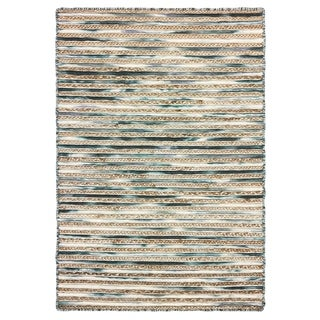 Link to LR Home Topanga Striped Wool and Jute Indoor Area Rug (8'x10') - 8' x 10' Similar Items in Rustic Rugs