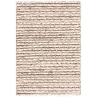 LR Home Topanga Striped Wool and Jute Indoor Area Rug (8'x10') - 8' x 10'