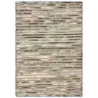 LR Home Topanga Striped Wool and Jute Indoor Area Rug (9'x12') - 9' x 12'