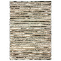 LR Home Topanga Striped Wool and Jute Indoor Area Rug - 8' x 10'