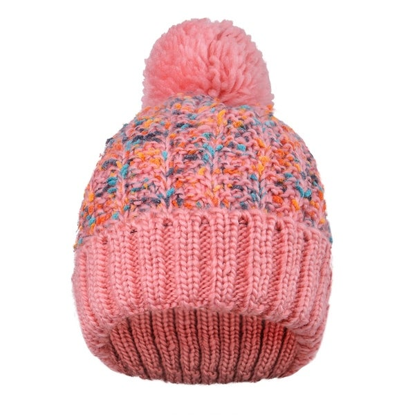 2e88a57c1c35ab Shop Adults' Knit Multicolor Speckled Knit Beanie with Yarn Pompom ...