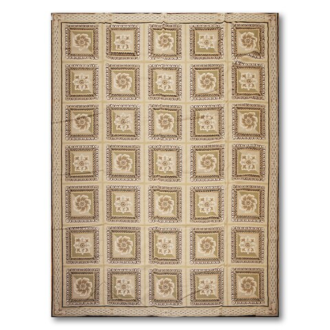 Formal Classic Asmara Needlepoint Aubusson Hand Woven Area Rug - 9'x12'
