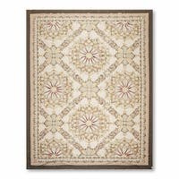 Asmara Traditional Classic Needlepoint Aubusson Hand Woven Area Rug - multi