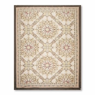Asmara Traditional Classic Needlepoint Aubusson Hand Woven Area Rug (9'x12')