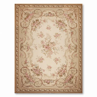 Ornamental Asmara Needlepoint Aubusson Hand Woven Area Rug (10'x14')