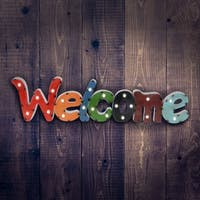 Solar WELCOME Marquee Wall Art