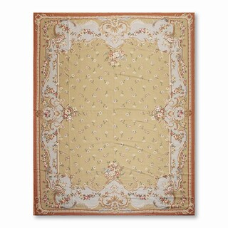 French Country Asmara Needlepoint Aubusson Hand Woven Area Rug (9'x12')