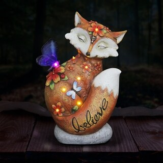 Solar Inspirational Fox Statue