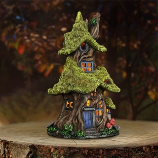 """13"""" Solar Thatch Roof Tree House"""