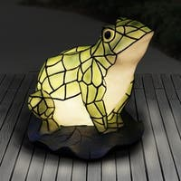 Battery Powered LED Tiffany Frog Statue
