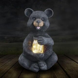 """19"""" Solar Bear with Firefly Jar"""