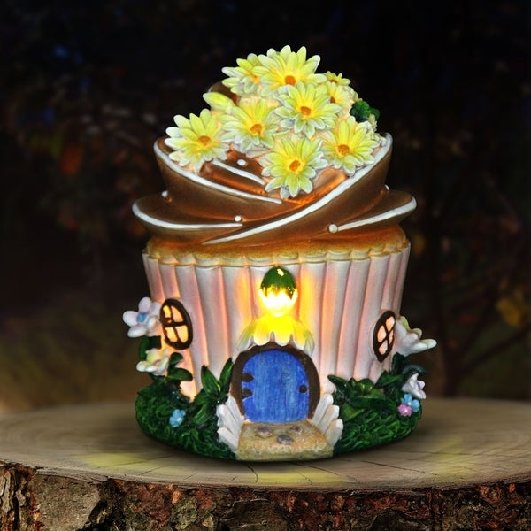 Solar Yellow Flower Cake House